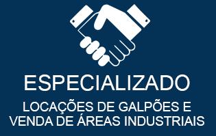 Especializado em locações de galpões e venda de áreas industriais
